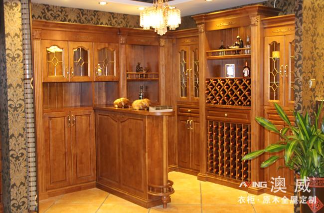 酒窖-纯原木定制家具系列-重庆澳威衣柜