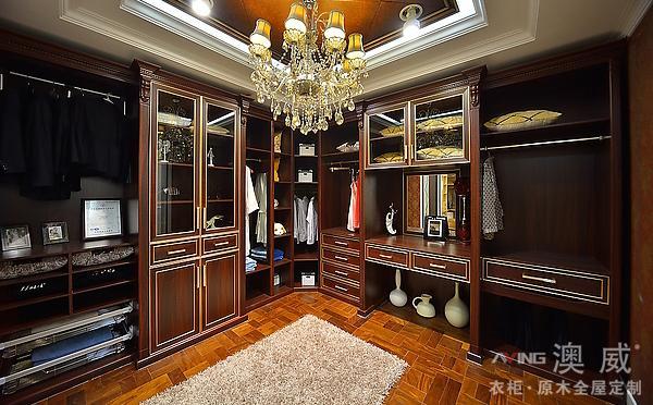 衣帽间-纯原木定制家具系列-重庆澳威衣柜