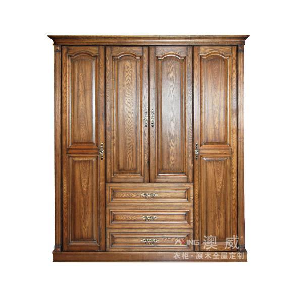 欧式原木衣柜-纯原木定制家具系列-重庆澳威衣柜.全屋