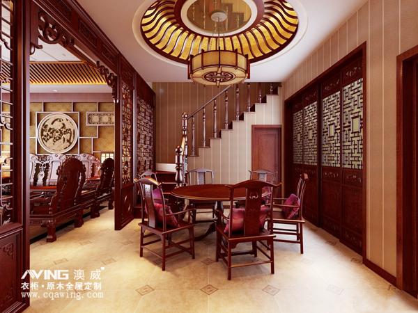 澳威带您赏析:高端中式客厅吊顶效果图,品位之人首选